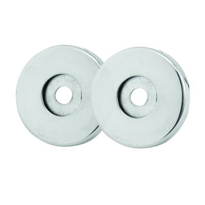 Altro Rose Set to Convert 25mm Pull Handles to Face Fixed - Polished Stainless Steel