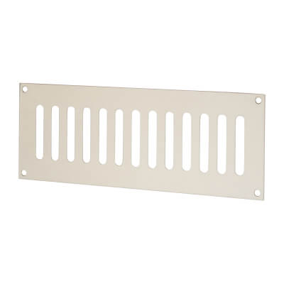Plain Slotted Vent - 242 x 89mm - 4800mm2 Free Air Flow - Polished Stainless Steel