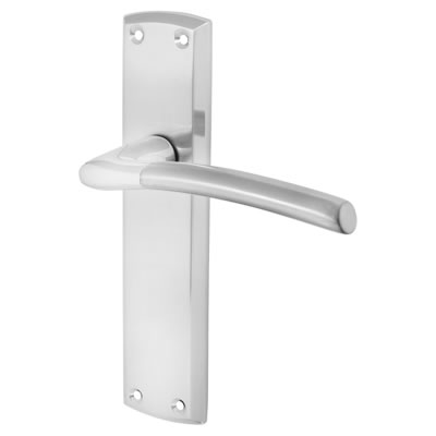 Morello Venice Door Handle - Latch Set - Polished Chrome