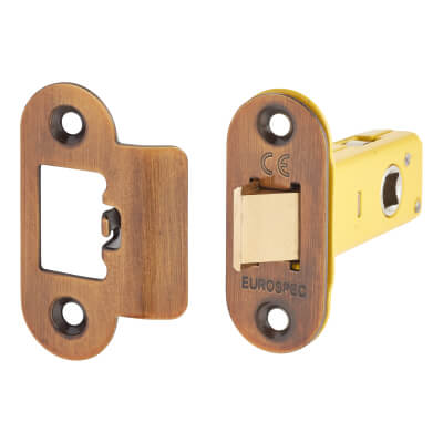 Altro Heavy Duty Tubular Latch - 65mm Case - 44mm Backset - Radius - Florentine Bronze