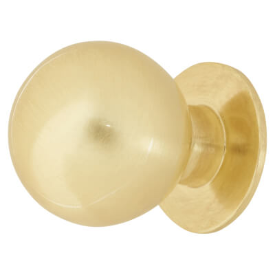 Touchpoint Ball Cabinet Knob - 18mm - Satin Brass