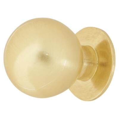 Touchpoint Ball Cabinet Knob - 18mm - Satin Brass