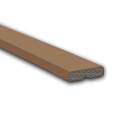 Fire Only Intumescent Strip - 20 x 4 x 2100mm - Plain - Brown - Pack 10)