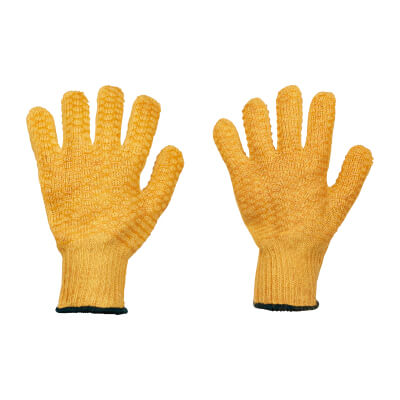 Yellow Criss Cross Gloves