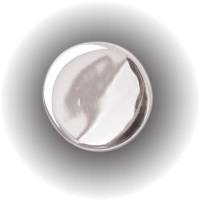 Mirror Screw Threaded Cap - Flat - 15mm - Chrome)