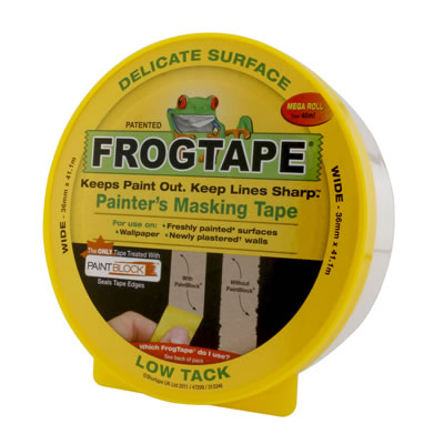 Frog Tape Delicate Surface Tape - 24mm x 41.1m - Yellow)