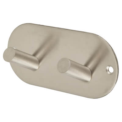Jedo Radius Horizontal Hook Plate - 94 x 46mm - Satin Stainless Steel)