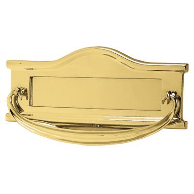 Victorian Traditional Postal Knocker - 307 x 159mm - Polished Brass