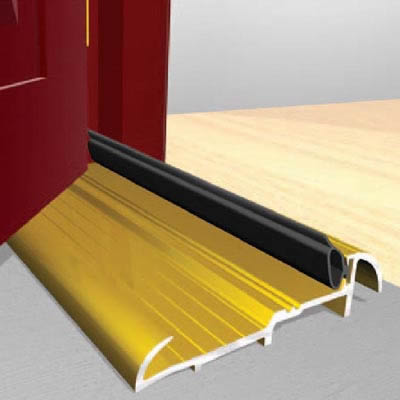 Exitex Threshold Strips - 1829mm - Outward Opening Doors - Gold