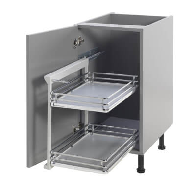 Base Pull Out Plus with Soft Close - Left Hand - Cabinet Width 300mm)