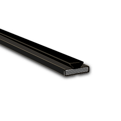 Pyroplex Fire & Smoke Intumescent Strip - 15 x 4 x 2100mm with Brush Pile - Black - Pack 10