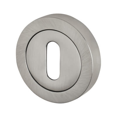 Reguitti Escutcheon - Keyhole - Satin Chrome)