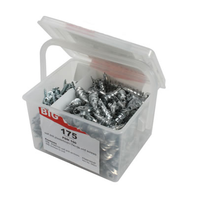 Fischer Self Drill Plasterboard Fixings and Screws - Pack 175