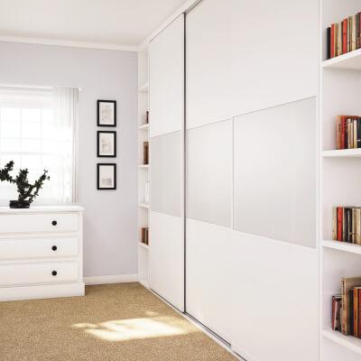 KLÜG Straight Sliding Cabinet 2m Track for 50kg Doors)
