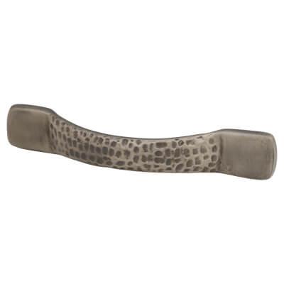 FingerTip Design Dimpled Effect Bow Cabinet Handle - 128mm Centres - Pewter)