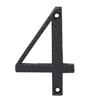 76mm Numeral - 4 - Antique Black Iron