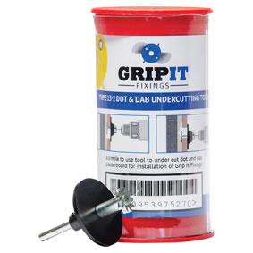 Grip It® Dot and Dab Undercutting Tool Kit - Yellow - 15mm)