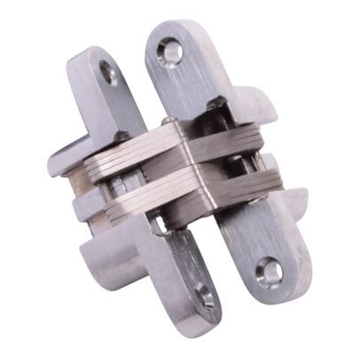 Tago Concealed Soss Hinge - 60 x 13mm - Satin Chrome - Pair)