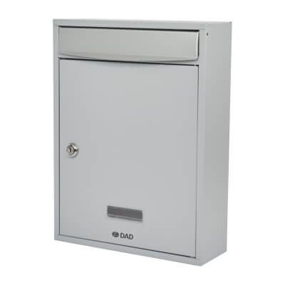 DAD Bologne Mailbox - 340 x 260 x 85mm - Silver Grey)