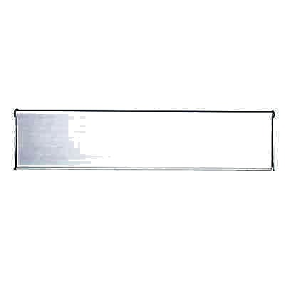 Outer Letter Plate - 300 x 80mm - Satin Aluminium