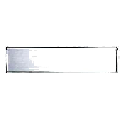 Outer Letter Plate - 300 x 80mm - Satin Aluminium