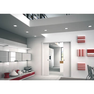 Eclisse Double Pocket Door Kit - 125mm Finished Wall - 610+610 x 1981mm Door Size)