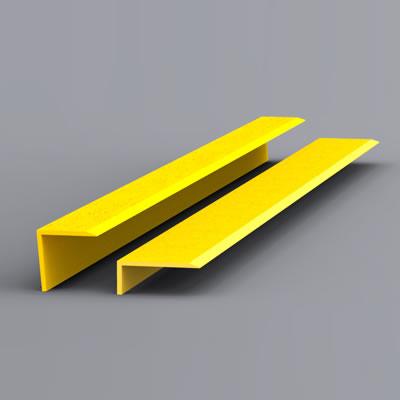 EdgeGrip Nosing Strip - 1000 x 55 x 55mm - Yellow)