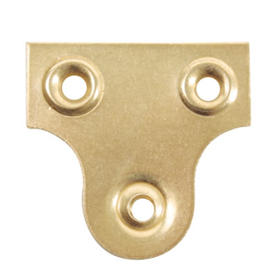 Glass Plate - 32mm - Brass Plated - Pack 10