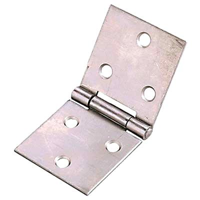 Uncranked Knuckle Backflap Hinge - 30 x 80mm - Self Colour Steel