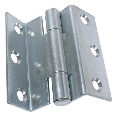 Storm Proof Casement Hinge - 8mm wide gap - 63mm - Bright Zinc Plated