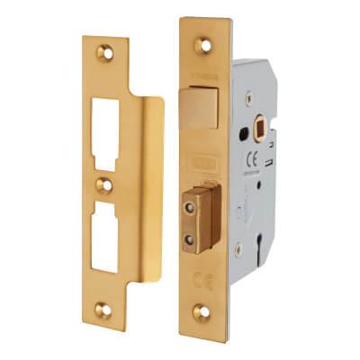 UNION® 2277 3 Lever Sashlock - 77.5mm Case - 57mm Backset - Polished Brass
