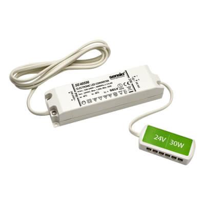 Sensio LED Driver - 30W/24V - 12 Port LED Block)