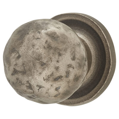 FingerTip Design Hammered Pattern Cabinet Knob - 32mm - Pewter Effect