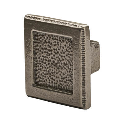 Crofts & Assinder Pip Cabinet Knob - Square - 50mm - Cast Iron