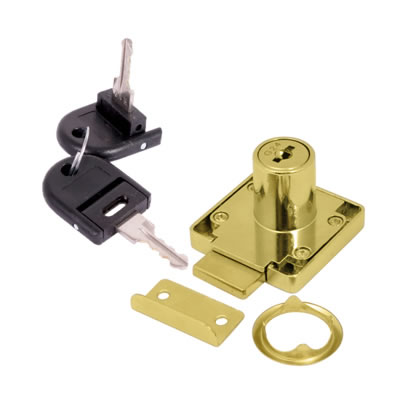 Cylinder Deadbolt - 19 x 32mm - Keyed to Differ - Brass Plated