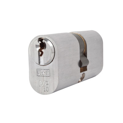 Eurospec MP10 - Oval Double Cylinder - 32 + 32mm - Satin Chrome  - Keyed to Differ