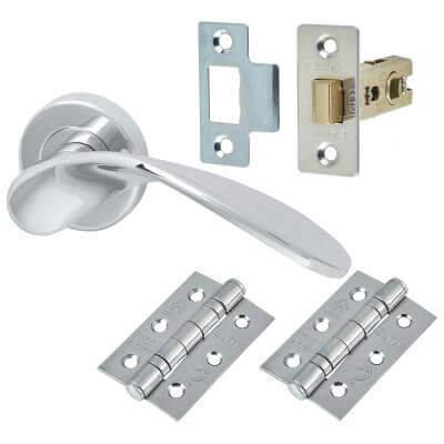 M Marcus Volo Door Handle - Door Kit - Polished Chrome