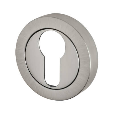 Reguitti Escutcheon - Euro - Satin Chrome)