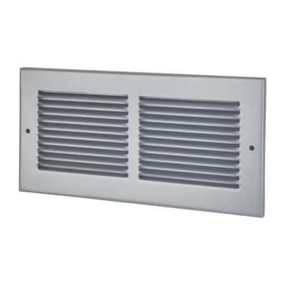 Vent Cover Grille - 300 x 140mm to suit transfer vent 250 x 100mm - Silver