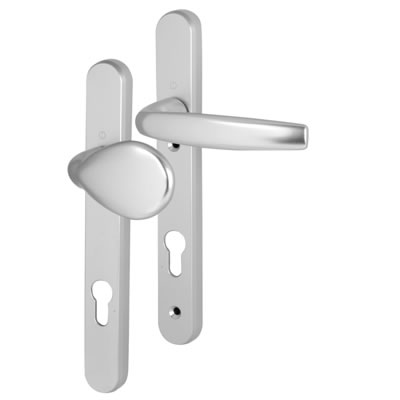 Hoppe Atlanta Multipoint Handle - uPVC/Timber - 92mm centres - 70mm door thickness - Lever/Pad - Si