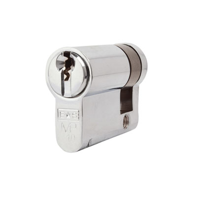 Eurospec MP10 - Euro Single Cylinder - 32 + 10mm - Polished Chrome  - Keyed to Differ