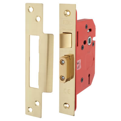 UNION® 2203S StrongBOLT 3 Lever Sashlock - 68mm Case - 45mm Backset - Brass