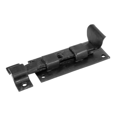 Straight Bolt - 160 x 50mm - Antique Black Iron)