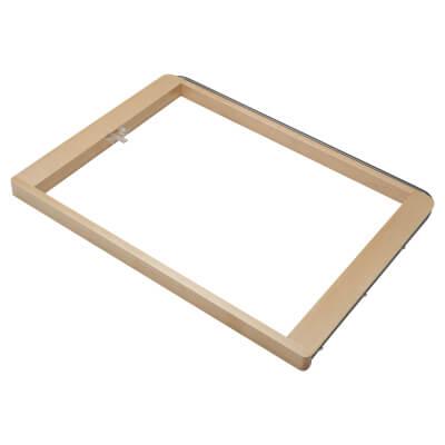 elfa® Pull Out Basket Frame - 600 x 437 x 32mm - Birch)