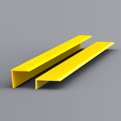 EdgeGrip Nosing Strip - 750 x 55 x 55mm - Yellow)