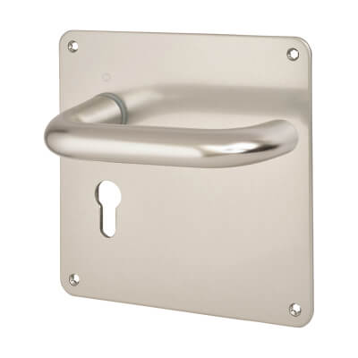 Altro 20mm Return to Door Handle - Euro Lock Set - Aluminium