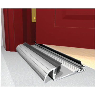 Exitex Low Height Macclex Threshold - 1829mm - Inward Opening Doors - Mill Aluminium)
