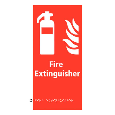Fire Extinguisher Sign - Braille