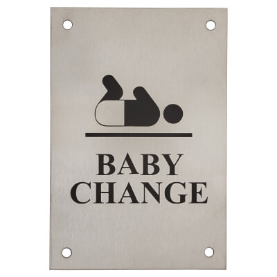 Baby Change - 150 x 100mm - Satin Stainless Steel