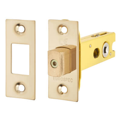 Altro 5mm Tubular Bathroom Deadbolt - 76mm Case - 57mm Backset - PVD Brass